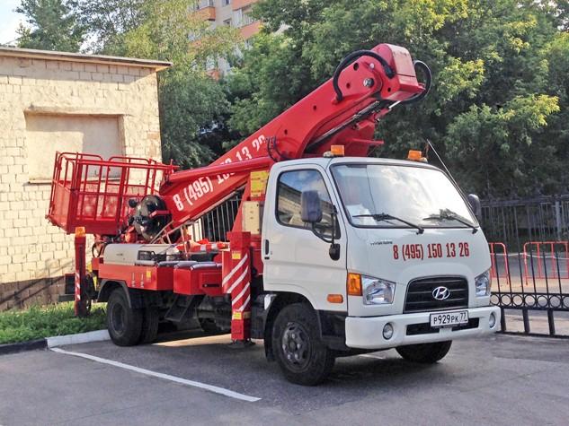 Автовышка 28 метров Hyundai