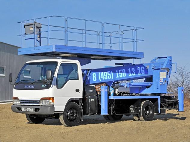 Автовышка 22 метра с большой люлькой Isuzu